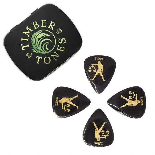 Zodiac Tones Libra Tin of 4 Guitar Picks